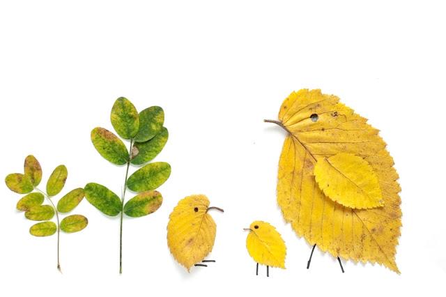 حيوانات من أوراق الاشجار 2