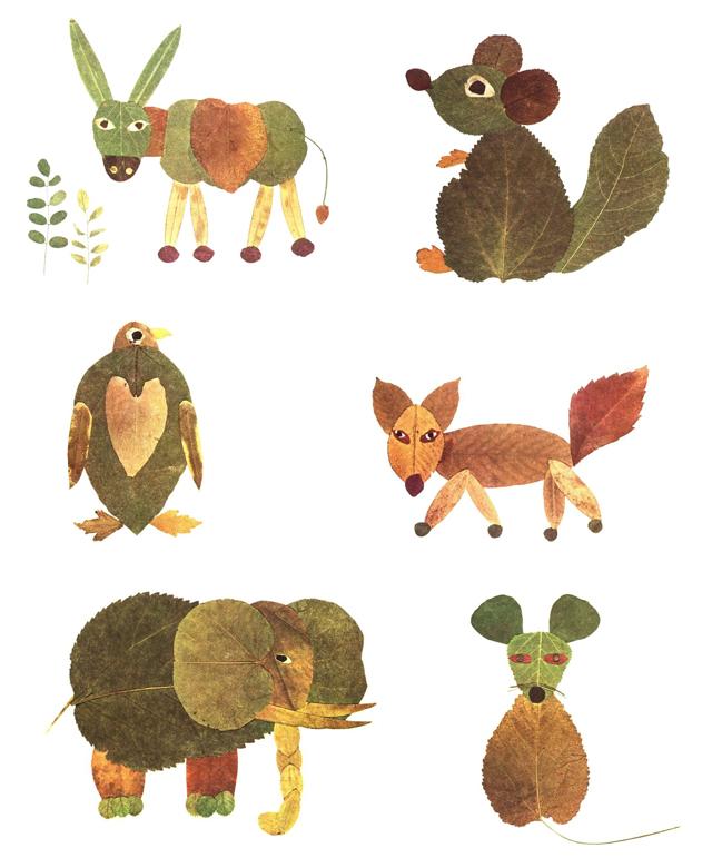 حيوانات من أوراق الاشجار 3