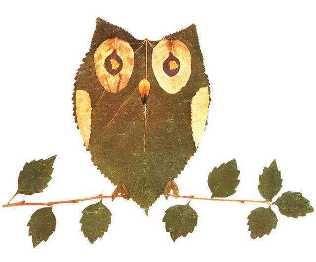 حيوانات من أوراق الاشجار 4