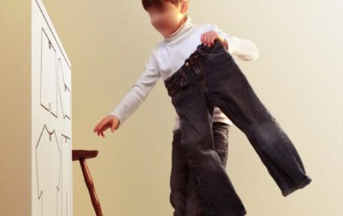 طريقة جميلة لترتيب ملابس الاطفال 2